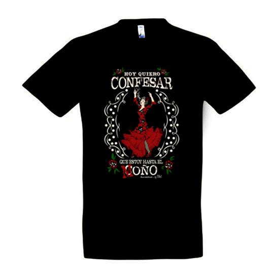 Camiseta la flamenca para hombre de Manojito de Claveles