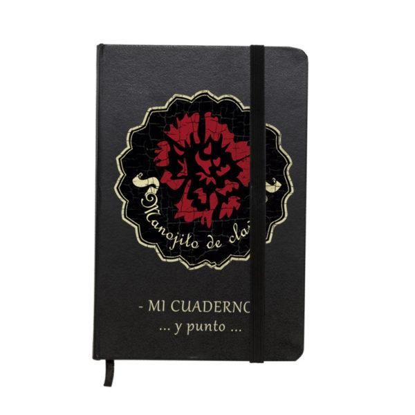 Cuaderno estilo moleskine modelo Logo Manojito