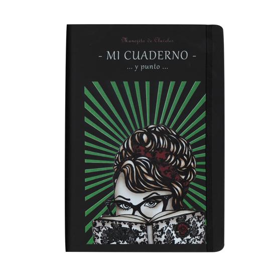 Cuaderno estilo moleskine modelo Manojita Gafas