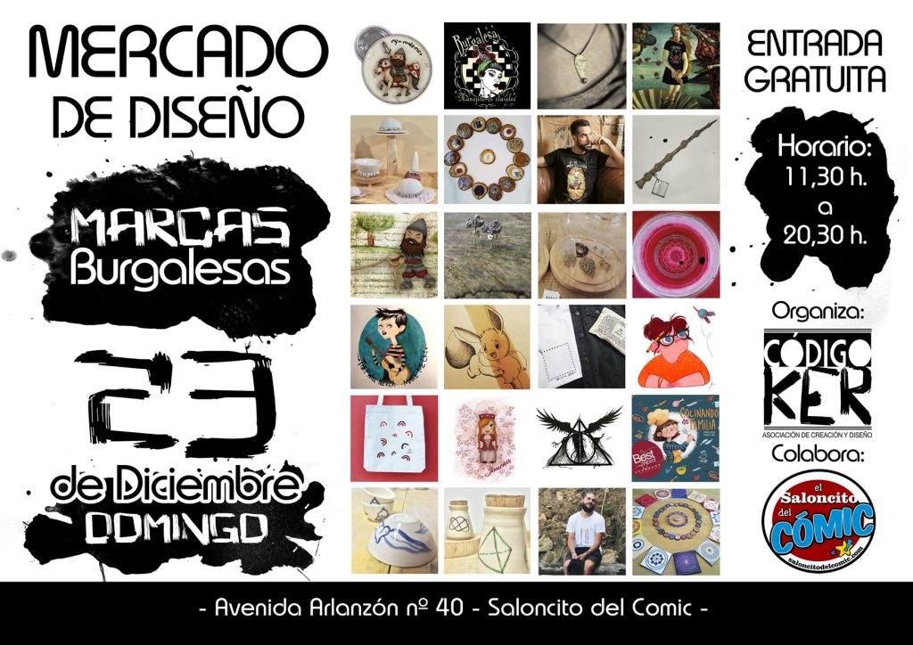 Flayer Mercado de Diseño Burgos