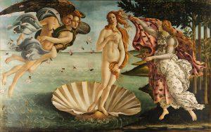 Cuadro de Boticelli - El nacimiento de Venus