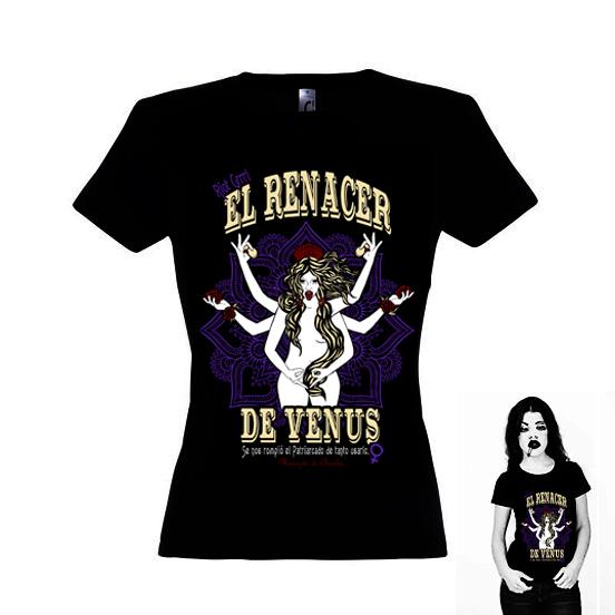 camiseta El Renacer de Venus para mujer