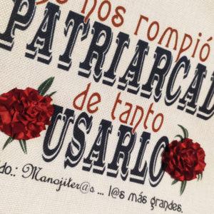 Bolsa tote bag Patriarcado de Manojito de Claveles