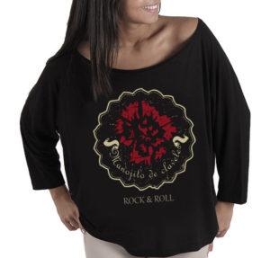 camiseta logo manojito de claveles